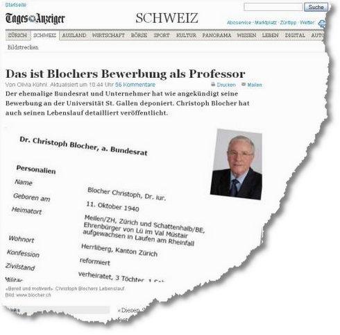 Blocher Kann Nicht Mal Eine Richtige Bewerbung Schreiben Iraff