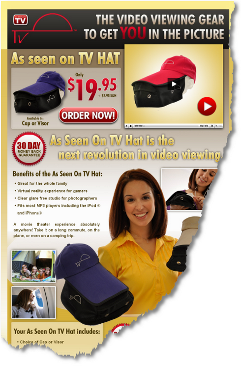 As Seen On TV Hat - Official Site - asseenontvhat