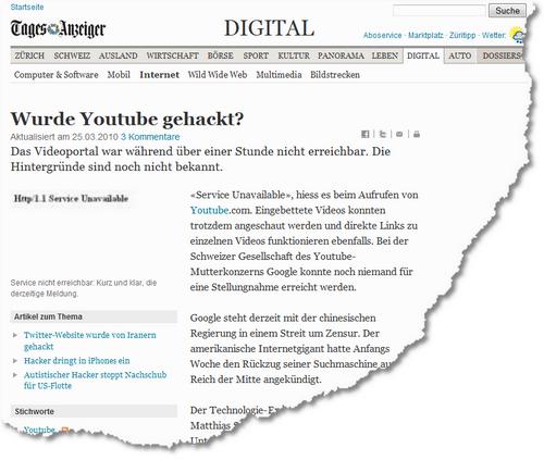 Wurde Youtube gehackt- - News Digital- Internet - tagesanzeiger