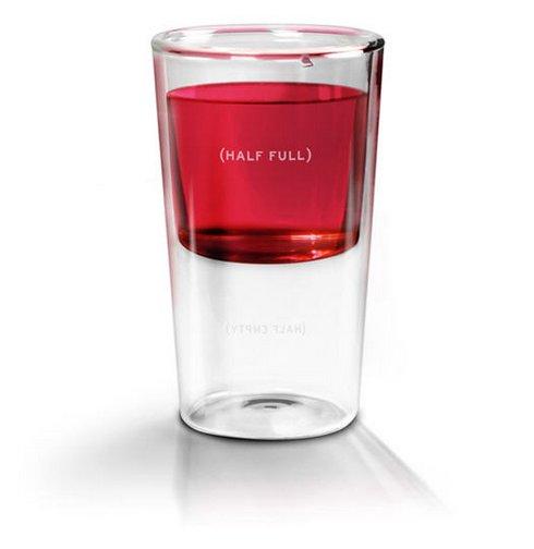 halb voll glas